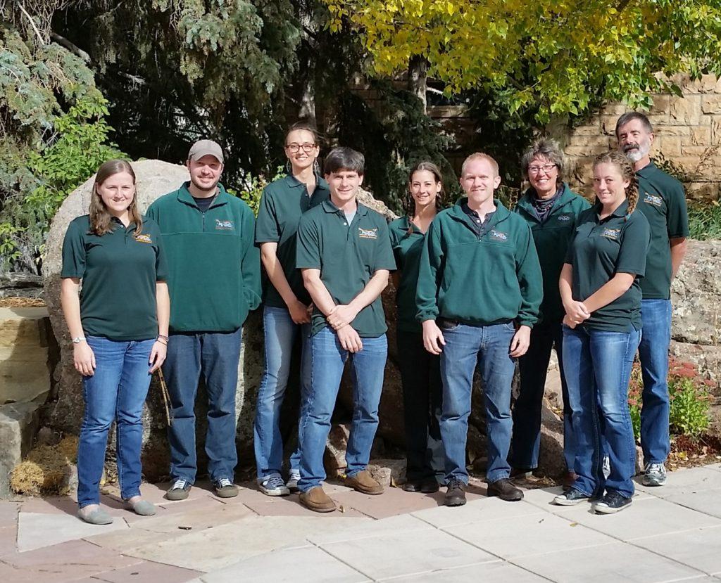 Lab members posing outside UW