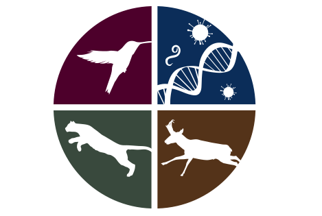 circle with icons of animals and dna