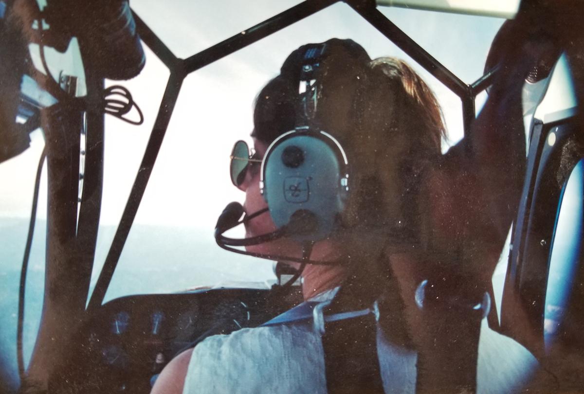 Holly flying plane