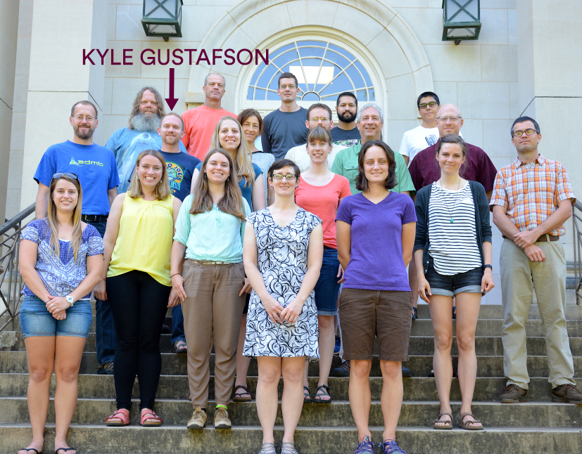 Kyle Gustafson with conference group
