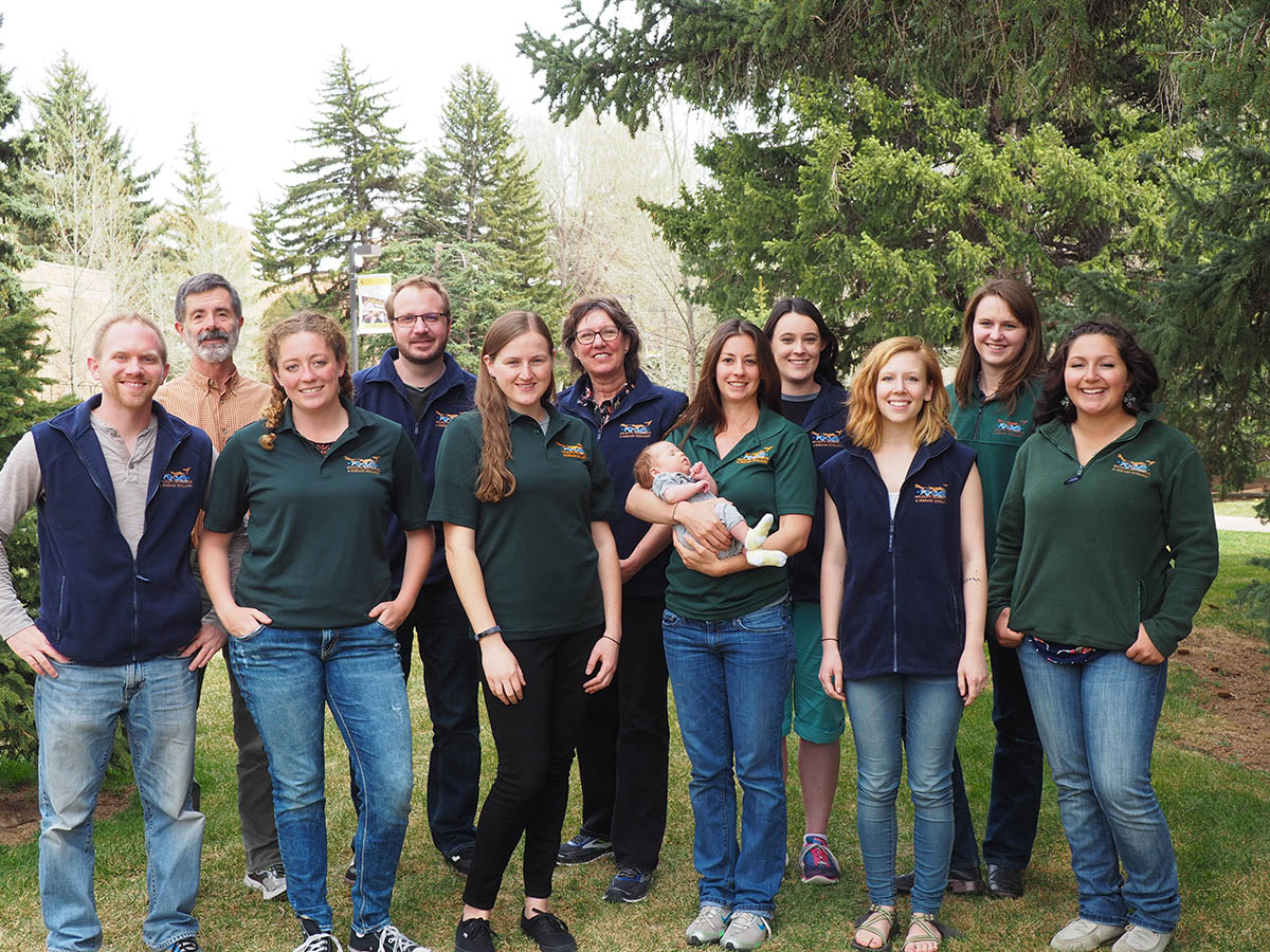 L to R, Kyle, Bruce*, Erin, Brady, Melanie, Holly, Beth with baby Quin, Emily, Millie, Adrienne, Maggie