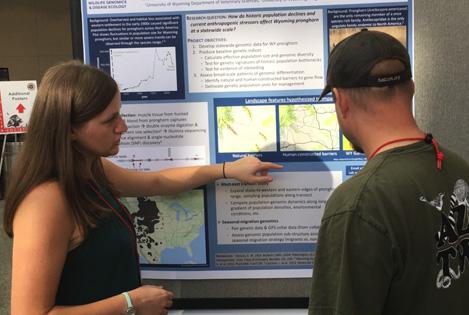 Melanie LaCava presenting pronghorn poster