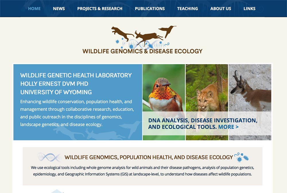 Wildlife Genetic Health website