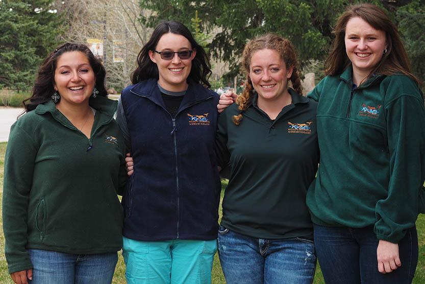 Undergrad picture showing Maggie, Emily, Erin, Adrienne