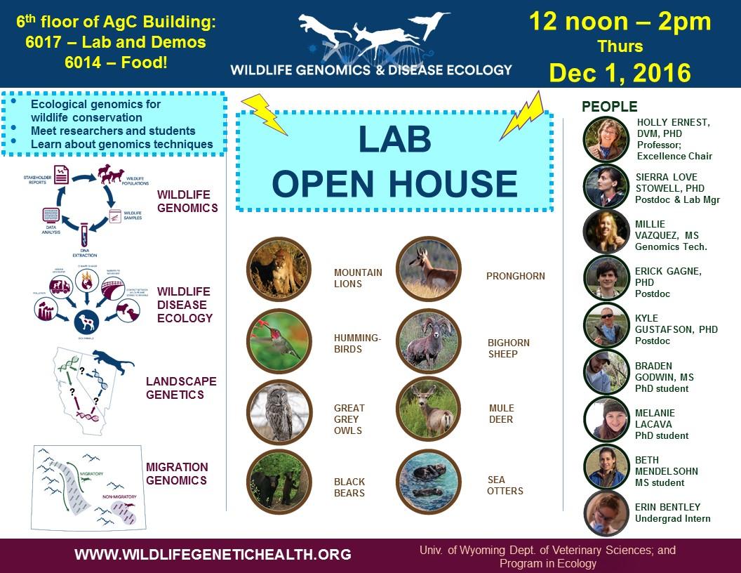 Lab Open House Dec 1 2016