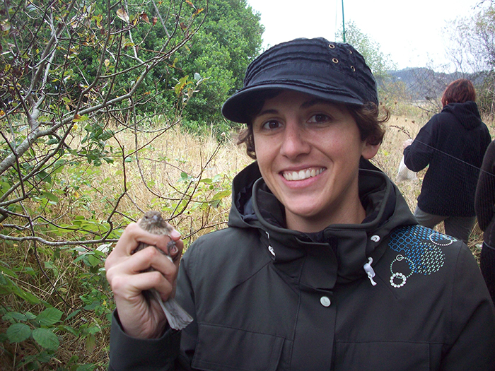 Loreto Godoy holding bird