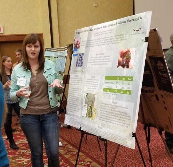Adrienne presenting poster